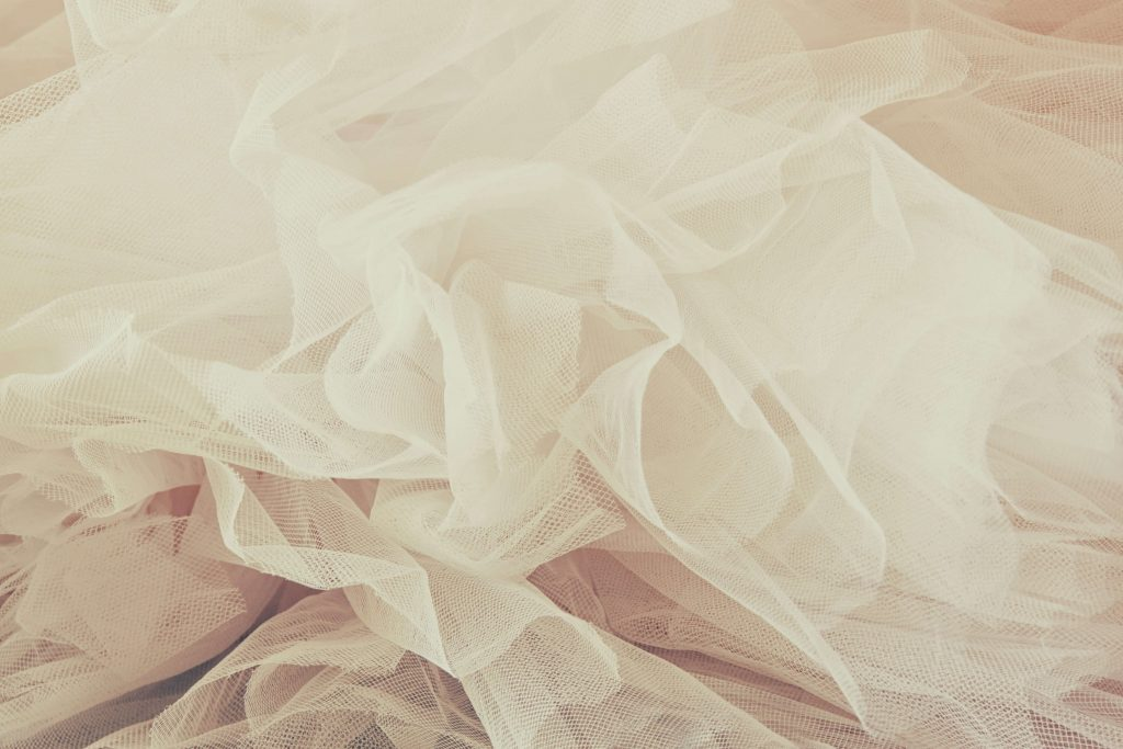 ivory tulle fabric