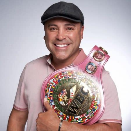 Boxing legend Oscar de Hoya participates in Pink October