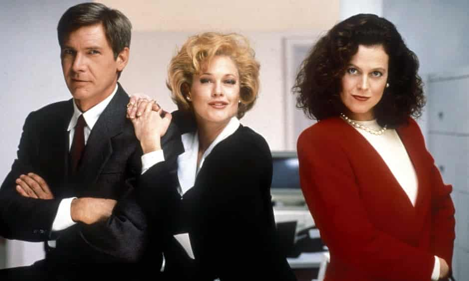The power dress style depicted in the film Working Girls.