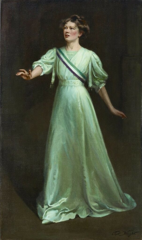 The suffragettes chose the colors green, white and purple as the symbolic triad of the international feminist movement in 1911.